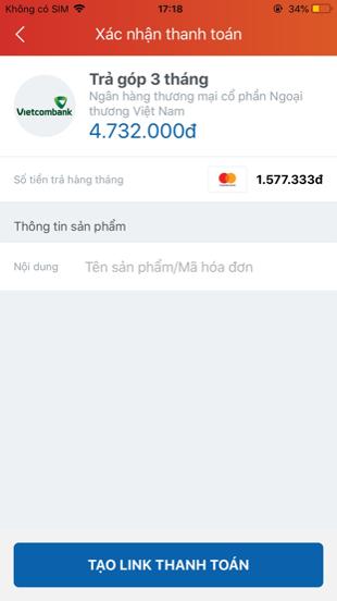 trả góp không lãi suất qua thẻ tín dụng tại Siêu thị nhà bếp Eco Best Việt Nam